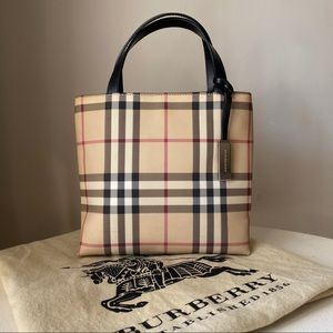 Burberry - Nova Check Coated Canvas Leather Tote